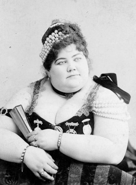 Circus 'Fat Lady' photograph