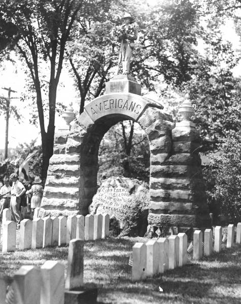 Camp Chase Confederate Cemetery photograph