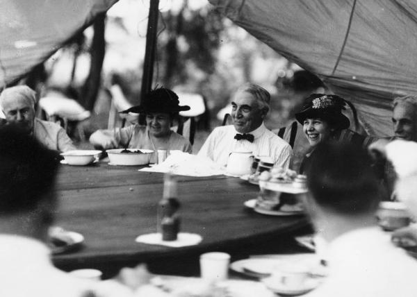 Dining tent at Camp Harding