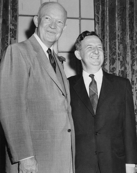 C. William O'Neill and Dwight D. Eisenhower photograph