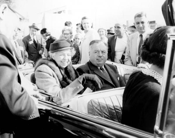 Michael V. DiSalle and Eleanor Roosevelt photograph
