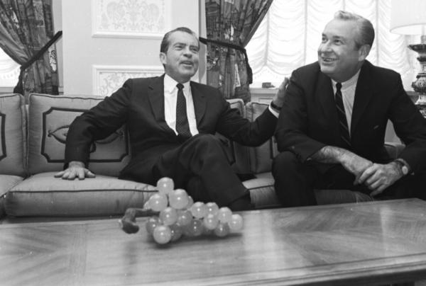 James Rhodes and Richard Nixon photograph
