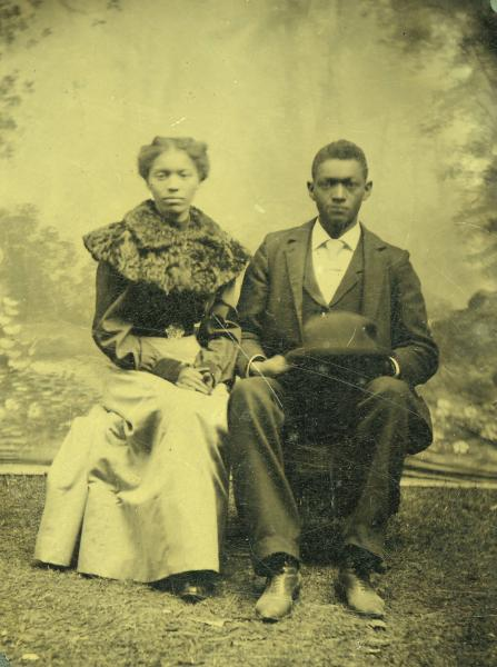 Bessie and William Brimbee tintype