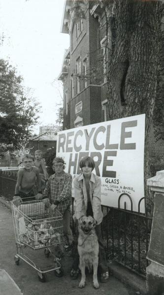 Neighborhood recycling program photograph