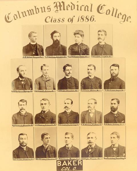 Columbus Medical College graduation photograph