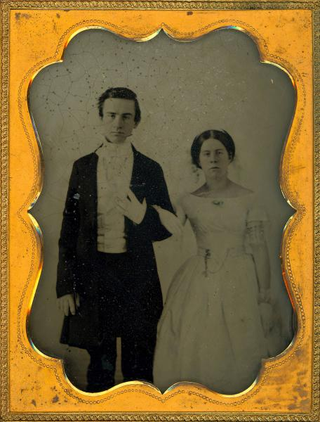 James House and Princess A. Miller Anderson wedding portrait