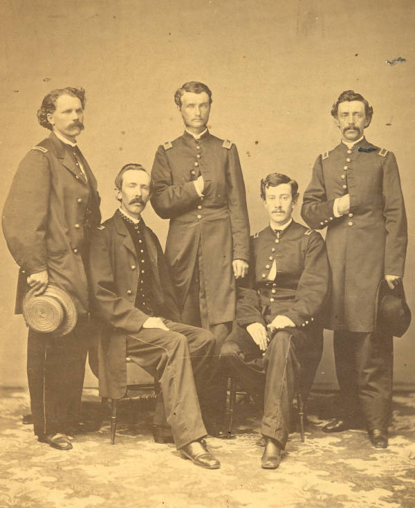William Hunt, Jr.  and fellow Civil War soldiers photograph