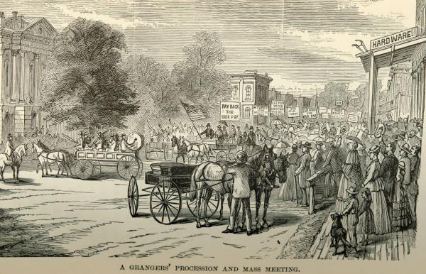 Granger's procession and mass meeting print