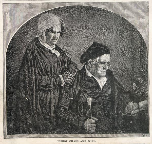 Philander Chase and wife print