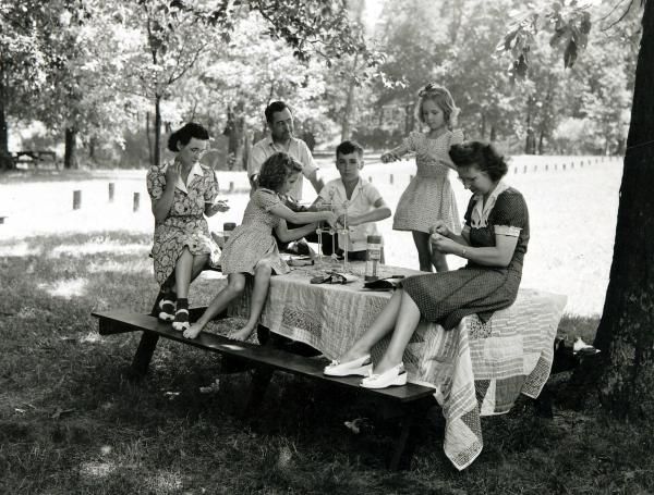 Fort Ancient picnickers photograph