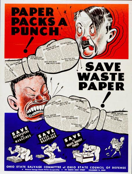 'Paper Packs a Punch' poster