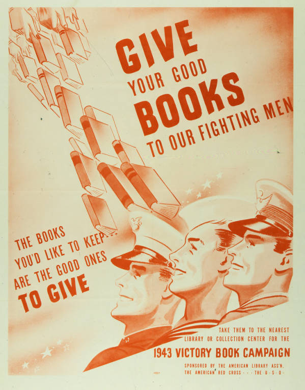 'Give Your Good Books To Our Fighting Men' poster