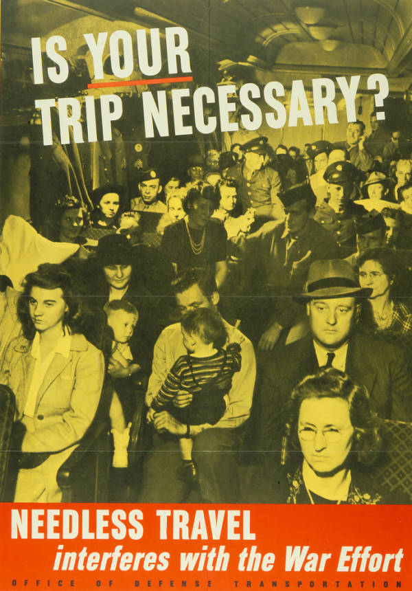 'Is Your Trip Necessary?' poster