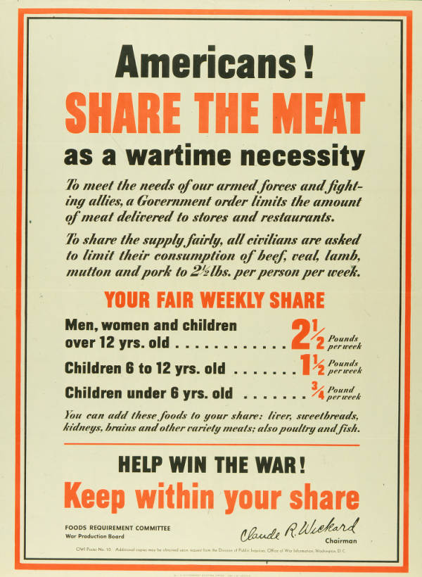 'Americans! Share the Meat' poster