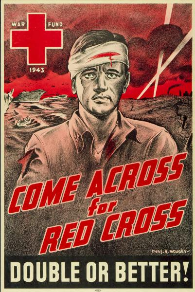 'Come Across for Red Cross' poster