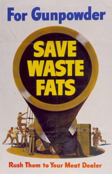 'Save Waste Fats' poster