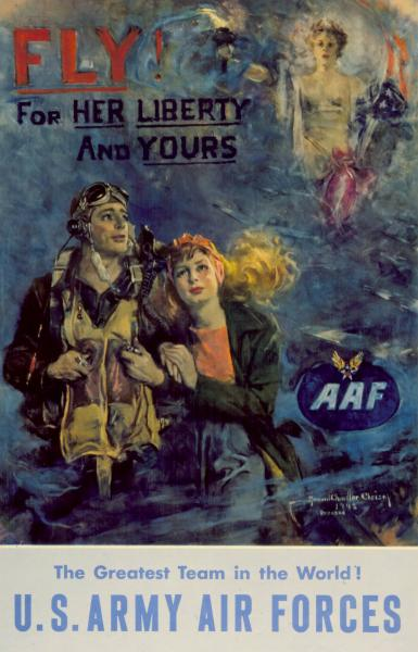 'Fly! For Her Liberty and Yours' poster