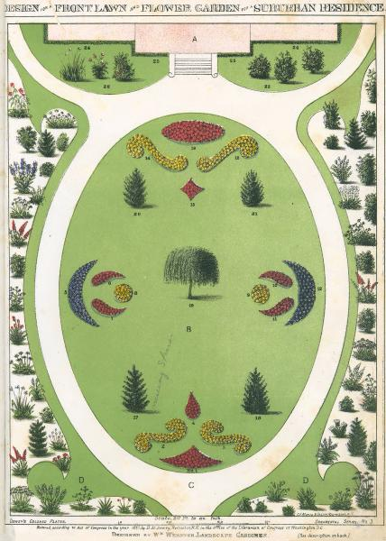 'Design for a Front Lawn' print