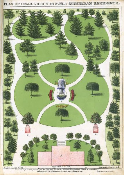 'Plan of Rear Grounds' print