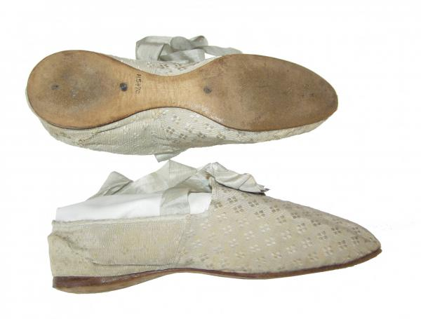 Silk brocade slippers