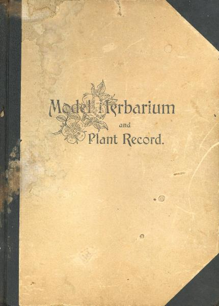 'Model Herbarium and Plant Record' cover