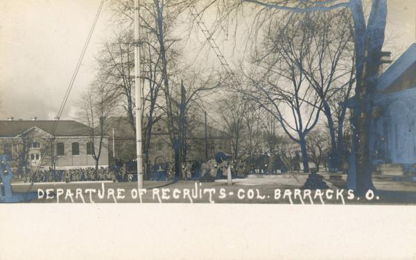 Columbus Barracks postcard