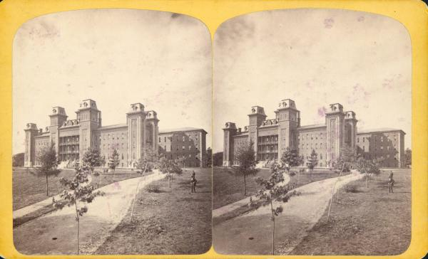 State School for the Deaf stereograph