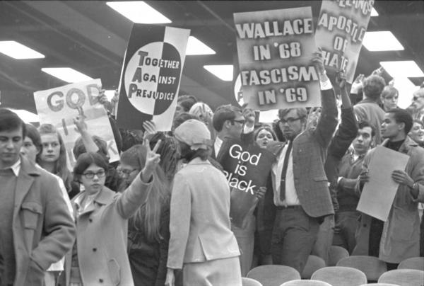George Wallace rally protestors