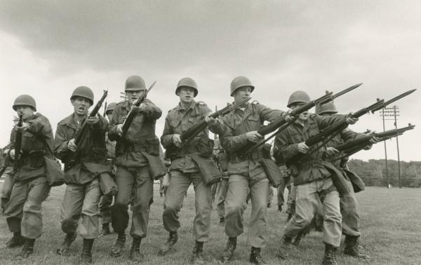 Ohio National Guard Troops practicing riot control