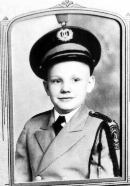 Neil Armstrong in band uniform