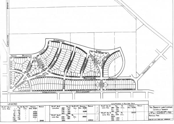 Youngstown Sheet and Tube Company's Loveland Farms plat map