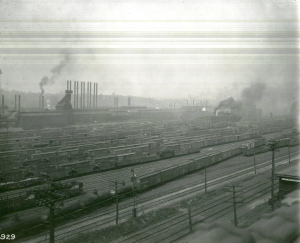 Youngstown Sheet and Tube Company's Campbell Works rail yard