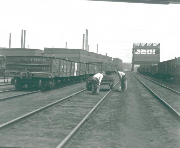 Youngstown Sheet and Tube Company's Campbell Works track gang