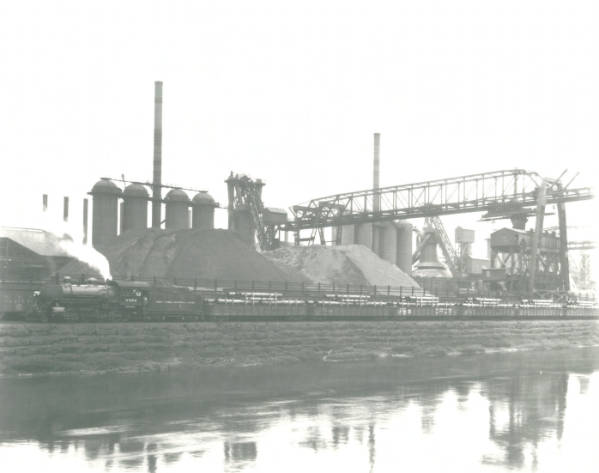 Youngstown Sheet and Tube Company's Campbell Works ore bridge and blast furnace