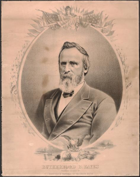 Rutherford B. Hayes presidential campaign poster