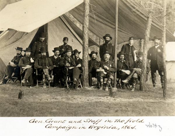 General Grant and staff in the field