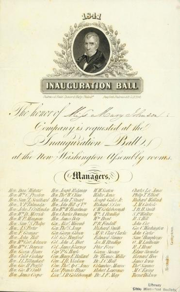 Invitation to Inauguration Ball