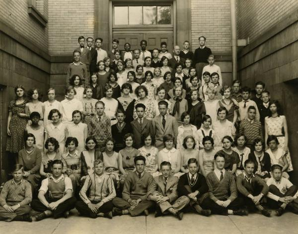 Barrett Junior High School class photograph