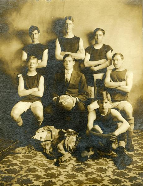 Young Americans basketball team photograph