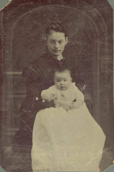 Lottie McMasters Minich and her son, Henry Scott Minich