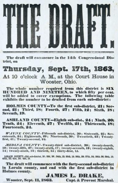 Civil War draft broadside