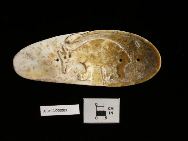 Sandal-sole gorget from Glacial Kame Culture