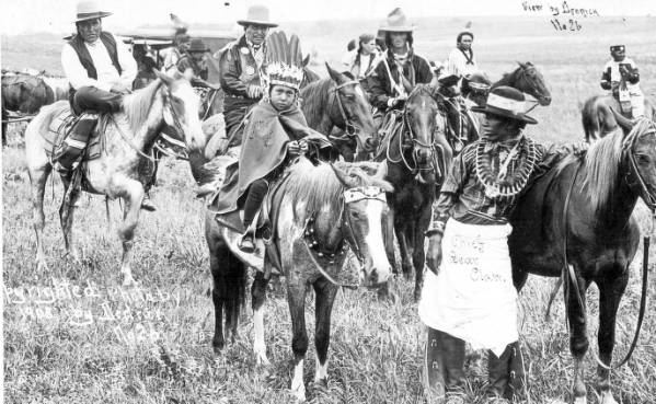 American Indians on horseback