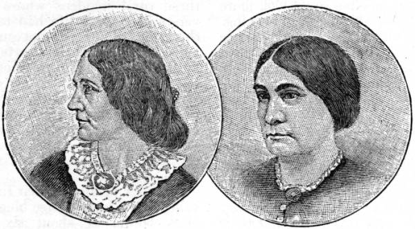 Alice and Phoebe Cary portraits