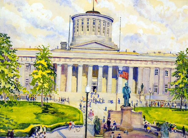 Ohio Statehouse painting
