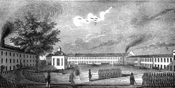 Scene at the Ohio Penitentiary illustration