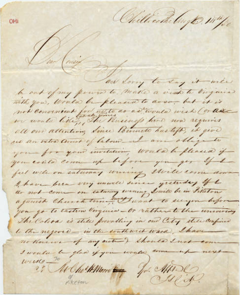 Charles A. Moore letter