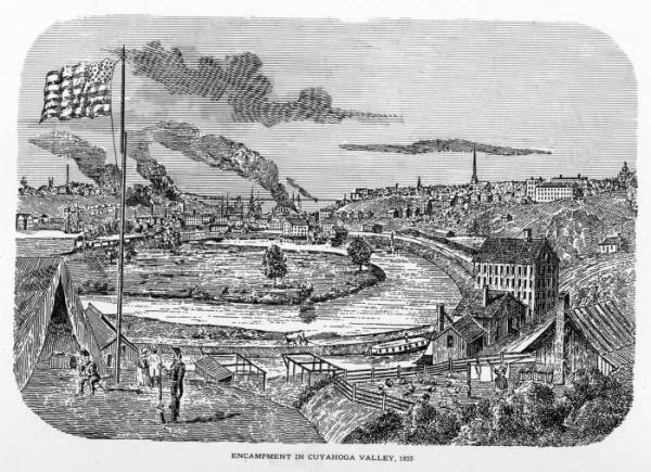 Cleveland Grays encampment in the Cuyahoga Valley