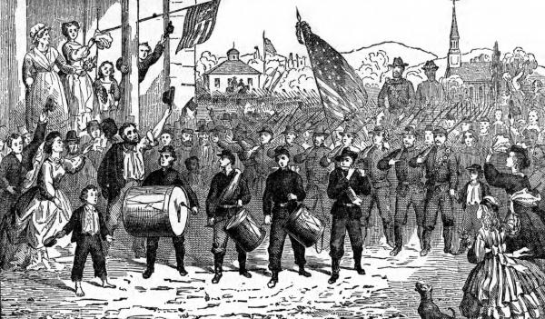 Returning from the Civil War illustration