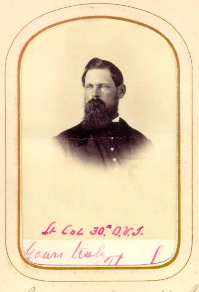 Lieutenant Colonel Theodore Jones carte de visite photograph